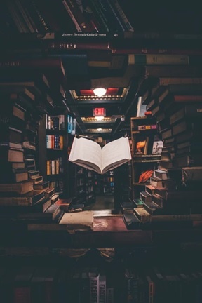 a book in a library